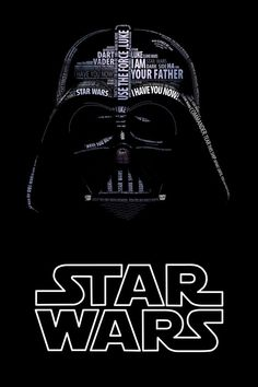 Darth Vader Typo Portrait by Vladislav Poliakov