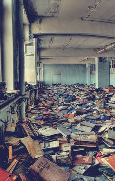 Abandoned library, Russia.