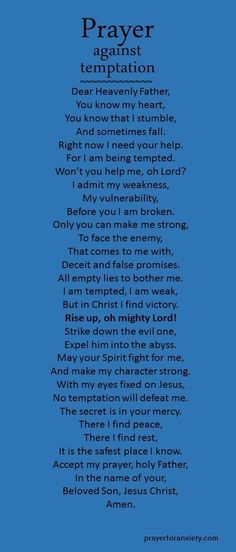 A prayer for when you are being tempted. @Sagine_1992 Sagine☀️