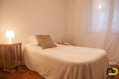Dormitorio individual una vez realizada la actuación de Home Staging