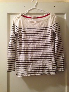 Banana republic boat neck striped T, size xs