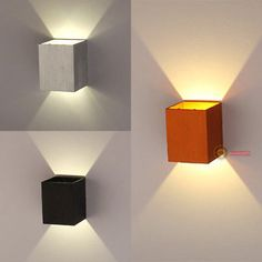 New Modern LED Square Wall Lamp Hall Porch Walkway Living Room Light Fixture in Home & Garden, Lamps, Lighting & Ceiling Fans, Wall Fixtures Home Theater Lighting, Home Theater Setup, Home Theater Design, Home Theater Seating, Living Room Light Fixtures, Wall Fixtures, Living Room Lighting, Bedroom Lighting, Ceiling Lighting