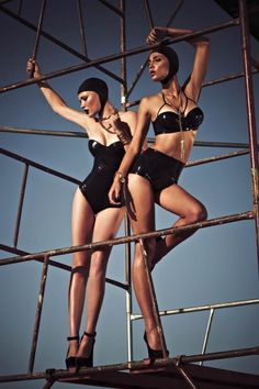 Black & Gold Editorial Fall 2012 Latex Haute Couture & Lingerie from Berlin   Black & Gold - wow!
