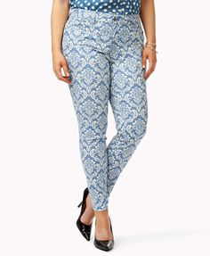 Paisley Print Skinny Jeans( these look so fun for summer)