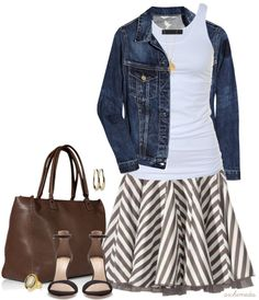 """Rockin' Stripes"" by archimedes16 on Polyvore"