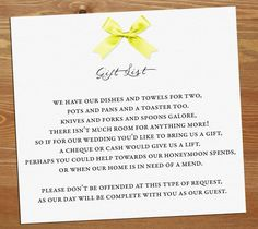 Wedding gift poem