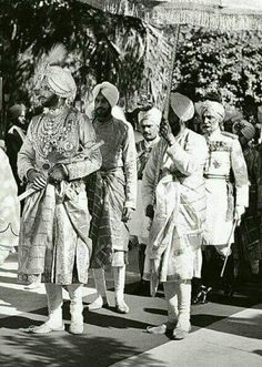 Maharaja yadvindra Singh of Patiala.. probably at his in marriage function.. wearing famous Patiala necklace and other Jewells. He was good cricketer..