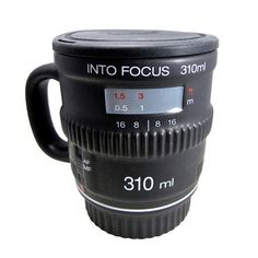 Drink your favorite beverage from a mug that has the look of a high tech camera lens. This lidded ceramic mug travels with you or makes a nice addition to your desk or kitchen space. What a fun way to regain focus in the morning! Camera Lens Mug, Focus Camera, 35mm Camera, Photographer Gifts, Gifts For Photographers, Need Coffee, Coffee Cups, Coffee Coffee, Mugs Set
