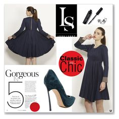 """CLASSIC CHIC"" by look-shop ❤ liked on Polyvore featuring Bobbi Brown Cosmetics, Casadei, dress, Shoe and lookshop"