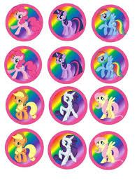 My Little Pony Icing Cake & Cupcake Topper | My Little ...