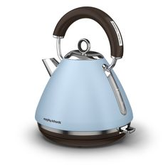 Limited special edition for our Accents traditional pyramid kettles - Azure. Pale blues bring a notch of colour where you need it while remaining easy on the eyes Traditional Kettles, Small Appliances, Kitchen Appliances, Retro, Color, Debenhams, Delicate, Blues, Electric Kettles