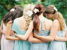 pastel bridesmaid dresses http://www.weddingchicks.com/2013/10/11/convertible-dress/