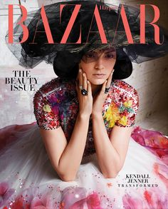 #KendallJenner poses on Harper's Bazaar May 2015 cover photographed by #KarlLagerfeld
