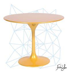 The Tulip Dining Table - Gold. www.funkyou.com.au Tulip Dining Table, Outdoor Tables, New Homes, Gold, Furniture, Home Decor, Decoration Home, Room Decor, Home Furnishings