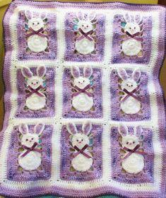 Bunny Baby Blanket Pattern Easter DIGITAL PDF