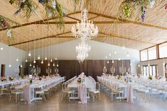 Chandeliers & Naked Bulbs for a Bright & Bold Spring Floral Wedding: Marilee & Pieter