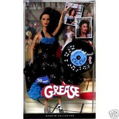 AmazonSmile: Cha Cha Dance-Off Grease Collectable Silver Label Barbie Fashion Doll: Toys & Games