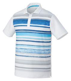 d722182b499 Puma Mens Washed Striped Polo. LogoSportswear