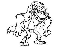 Dibujo de Hombre lobo para colorear