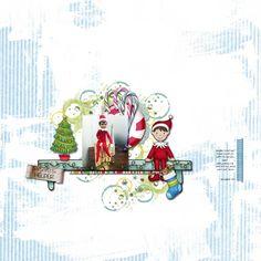 Scrapping My Heart: Santa's Little Helper  Elf on the Shelf day 1 scrapbook page