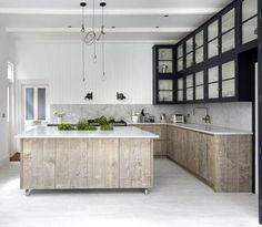 This week we fell in love with this gorgeous, South East London, kitchen design, created by Jamie Blake of Blakes London, an Interior Design and bespoke. Kitchen Tops, New Kitchen, Summer Kitchen, Rustic Kitchen, Awesome Kitchen, Kitchen Ideas, Hickory Kitchen, Neutral Kitchen, Minimal Kitchen
