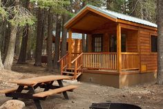 Lassen Volcanic National Park, camp cabins