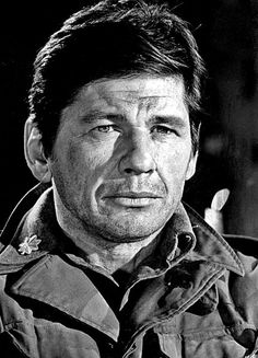 "Charles Bronson (born Charles Dennis Buchinsky; November 3, 1921 – August 30, 2003) an American film and television actor, born to a Polish-Lithuanian immigrant father and a Lithuanian-American mother.  In 1943, Bronson enlisted in the United States Army Air Forces and served as a B-29 aerial gunner as a Superfortress crewman with the 39th Bombardment Group based in Guam. He was awarded a Purple Heart for wounds received during his service.  Best known for his ""Death Wish"" series."