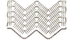 Crochet Borders, Crochet Chart, Crochet Stitches, Knit Crochet, Crochet Patterns, Crochet Ripple, Chevron, Elephant Blanket, Chrochet
