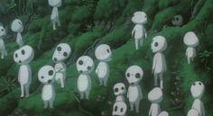 Kodama / Forest Spirits - Princess Mononoke   20 Most Adorable Supporting Hayao Miyazaki Creatures