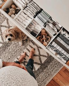 "Nesting is in full force over here...🐶 is a little uncertain what's happening to her ""zen space""! Savoring this organizational moment… Nursery Organization, Lil Baby, Nursery Neutral, Baby Bedroom, Nursery Design, Baby Boy Nurseries, Baby Decor, Everything Baby, Gender Neutral"