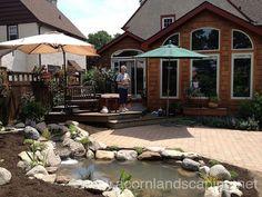 Hometalk | Stunning Landscape Design (Ideas) W/Fish Pond & Paver Patio By Acorn