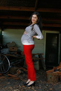 look of the week: stripes + red