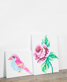 DIY : Embroidery inspired painting for your home