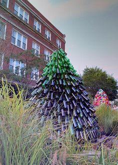 Makes me want to clean up a vacant lot and create a bottle Christmas tree.