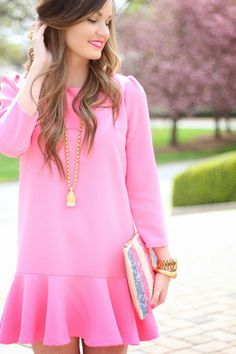 For All Things Lovely: Candy Pink + Sequins