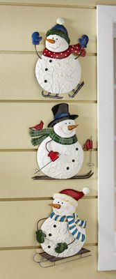 Winter Fun Snowmen Wall Decorations
