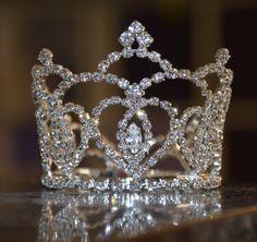 Rhinestone Princess Crown Wedding, flower girl,  photo prop for baby infant toddler, birthday Bling by meusermath on Etsy https://www.etsy.com/listing/187096581/rhinestone-princess-crown-wedding-flower