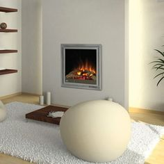 Napoleon EF30 Clean Face Electric Fireplace with Realistic Burning Logs