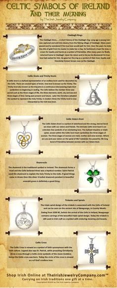 Celtic Jewelry, Celtic Knot Meanings, Ireland, Irish Traditions Celtic Symbols and their Meanings - Celtic Knots are complex and intricate. The meaning of Celtic Jewelry and symbols are steeped in an -