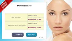 Dermal roller therapy provides advanced micro-medical skin-needling, an increasingly popular cosmetic procedure that stimulates the skin to regenerate and repair itself naturally and safely by increasing the levels of collagen and elastin in the skin.  Learn more about the treatment on: www.silkyskin.co.uk/treatments/dermalroller    View the offers on: www.silkyskin.co.uk/offers