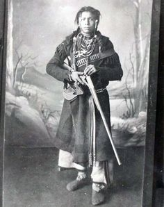 Blackfoot man with gun