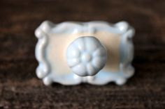 ceramic cottage knob // cabinet knob drawer pull by umbrellafant