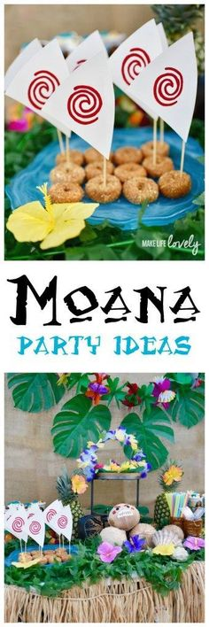 Get inspired with this Disney Moana party! This incredible party includes DIY coconut kakamora, edible Moana boats, delicious food, tropical decor and more!