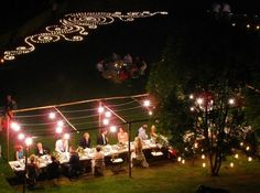 Lights above table