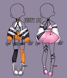 Fluffy pop Outfit adopt [CLOSE] by Miss-Trinity on DeviantArtYou can find Art reference and more on our website.Fluffy pop Outfit adopt [CLOSE] by Miss-Trinity on DeviantArt Drawing Anime Clothes, Manga Clothes, Kawaii Clothes, Clothing Sketches, Dress Sketches, Fashion Design Drawings, Fashion Sketches, Anime Poses Reference, Art Reference