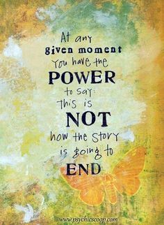 You Have the Power to Say: