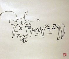 Bag One, Suite of 4 Posters 1985 by John Lennon
