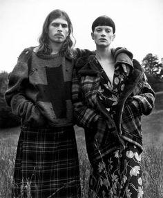 90's Fashion Grunge- love the cross jumper