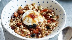 Vary these basic granola and toasted muesli recipes by substituting different nuts, seeds or fruit as the mood takes you. Stir ingredients frequently while cooking so they don't stick; serve with yoghurt or fruit puree.