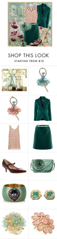 """""""Kitten heels"""" by anne-irene ❤ liked on Polyvore featuring Pottery Barn, H&M, Reiss, Dune, Mellow World, Dorothy Perkins, women's clothing, women, female and woman"""